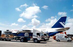 Malta Aiport, trucks and an airplane