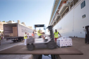 Loading cruise ship 1