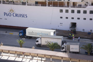 Loading cruise ship 2