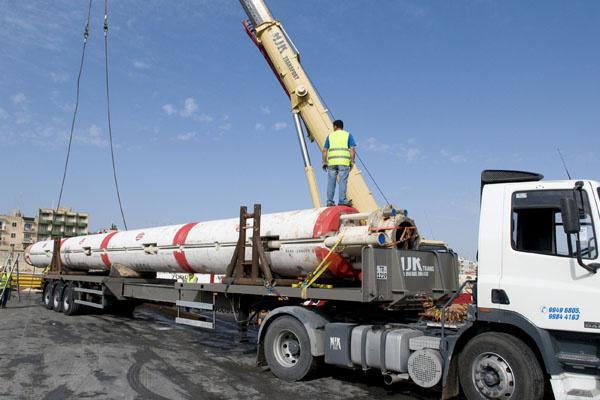 Rig equipment on truck