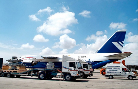 Malta Aiport, trucks and an airplane