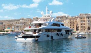 Super yacht in Malta