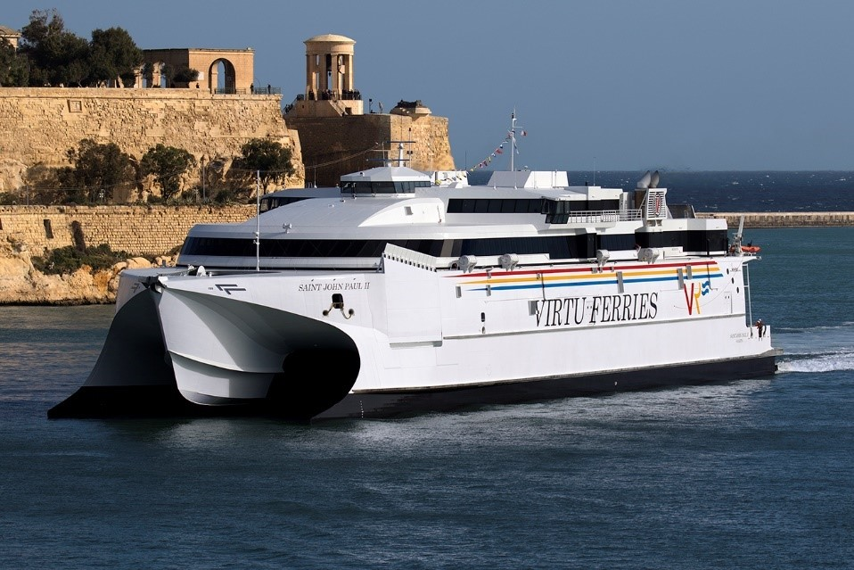 Virtu Ferries ship in Malta